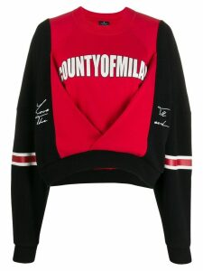 Marcelo Burlon County Of Milan colour block logo print sweatshirt -
