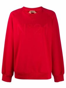Nº21 embossed logo sweatshirt - Red