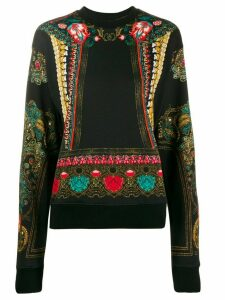 Etro ornate print sweatshirt - Black