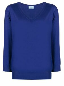 Prada V-neck wool jumper - Blue