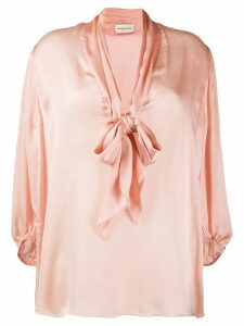 Alexandre Vauthier loose-fit bow blouse - PINK