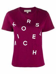 Michael Michael Kors logo print T-shirt - PURPLE