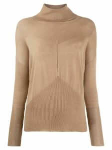Lorena Antoniazzi cashmere roll-neck sweater - NEUTRALS
