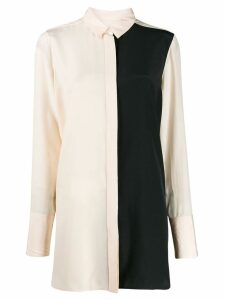 Jil Sander panelled long-line blouse - Pink