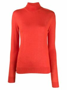 Jil Sander turtleneck cashmere knit top - Red