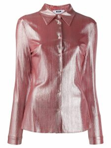 MSGM shine-effect shirt - PINK