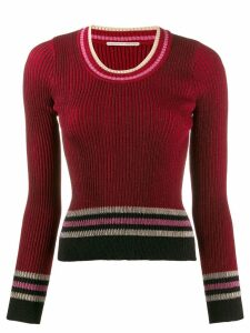Marco De Vincenzo stripe fitted sweater - Red