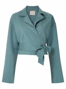 Framed Cashquere shirt - Blue