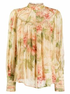 Zimmermann Antique Peony blouse - NEUTRALS