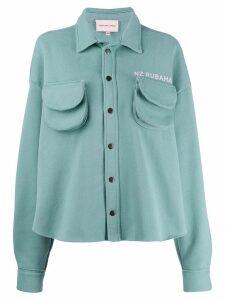 Natasha Zinko oversized cargo shirt-jacket - Green