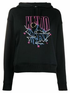 Kenzo embroidered logo hoodie - Black