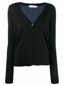 Tory Burch silk back cardigan - Blue