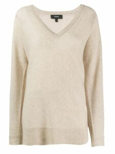 Theory knitted cashmere jumper - NEUTRALS