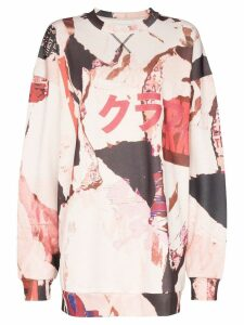 Marques'Almeida graffiti print sweatshirt - White