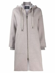 Lorena Antoniazzi cardigan-coat - Grey