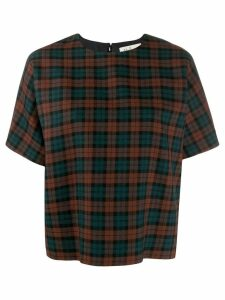 Mulberry tartan top - Brown