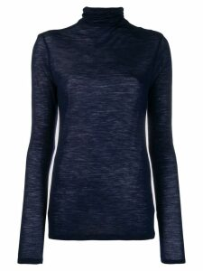 Semicouture turtleneck sheer jumper - Blue