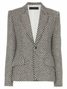 Haider Ackermann striped tailored blazer - White