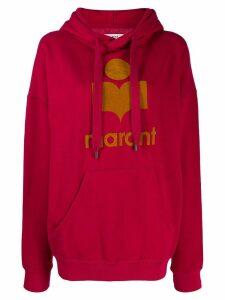 Isabel Marant Étoile logo print hoodie - Red