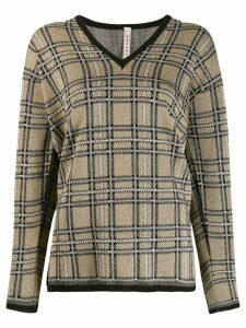 Antonio Marras plaid knit sweater - NEUTRALS