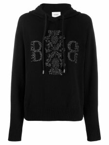 Barrie cashmere hooded jumper - Black