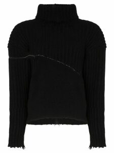 Unravel Project hybrid zip detail jumper - Black