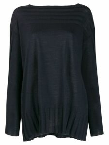 Antonio Marras ribbed-trim knit sweater - Blue