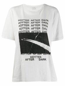 Saint Laurent slogan print T-shirt - NEUTRALS