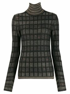 Antonio Marras slim-fit check sweater - Black