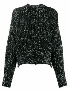 Jil Sander cropped roll-neck knitter jumper - Black