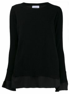 Dondup layered crew neck jumper - Black