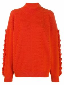 Barrie roll-neck cashmere jumper - Orange
