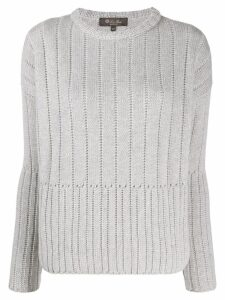 Loro Piana ribbed jumper - Grey