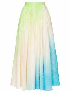 Roksanda Ambra ombré pleated maxi-skirt - Multicolour