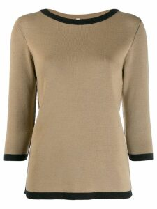 Antonio Marras contrast trim wool sweater - Brown