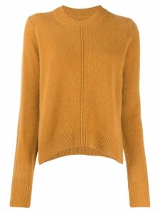 Isabel Marant Chinn side slit crewneck jumper - Brown