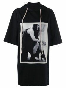 Rick Owens DRKSHDW contrast print T-shirt - Black