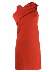 Rick Owens cross neck longline top - Red