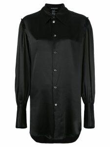 Ann Demeulemeester bell sleeve blouse - Black