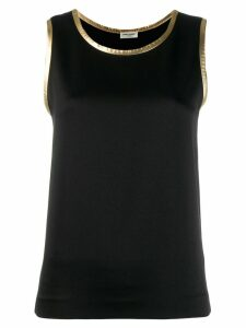 Saint Laurent metallic trim tank top - Black