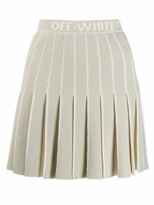 Off-White pleated mini skirt - Grey
