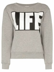 Moncler slogan printed jumper - Grey