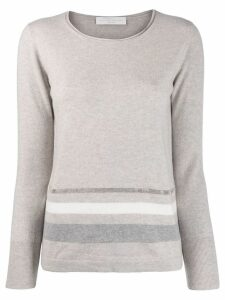 Fabiana Filippi stripe detail jumper - Neutrals