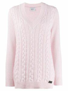 be blumarine V-neck pullover - PINK