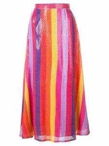 Olivia Rubin stripped sequin skirt - Multicolour