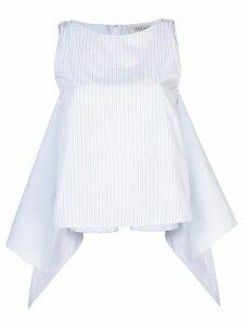 Arias tie front tank top - White