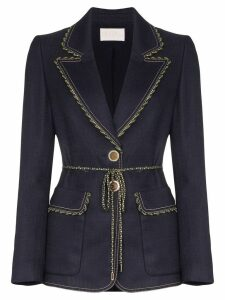 Peter Pilotto stretch tailored jacket - Blue