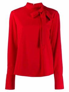 be blumarine tie neck blouse - Red