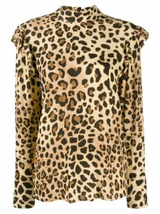 be blumarine leopard print blouse - Brown