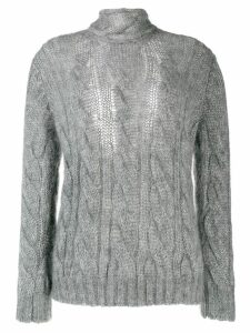 Prada chunky cable knit sweater - Grey